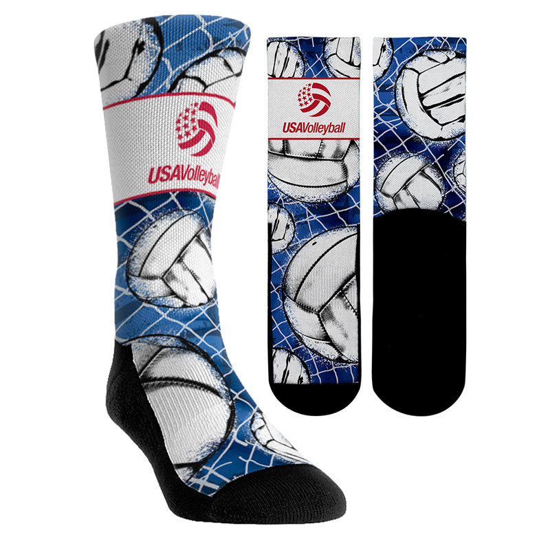 USA Volleyball All Over Volleyball Socks