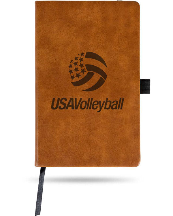 "USA Volleyball Leather Journal (5.25"" X 8.25"")"