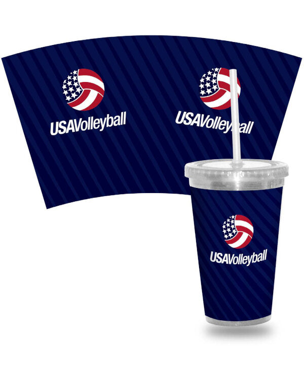 USA Volleyball 16Oz Acrylic Tumbler