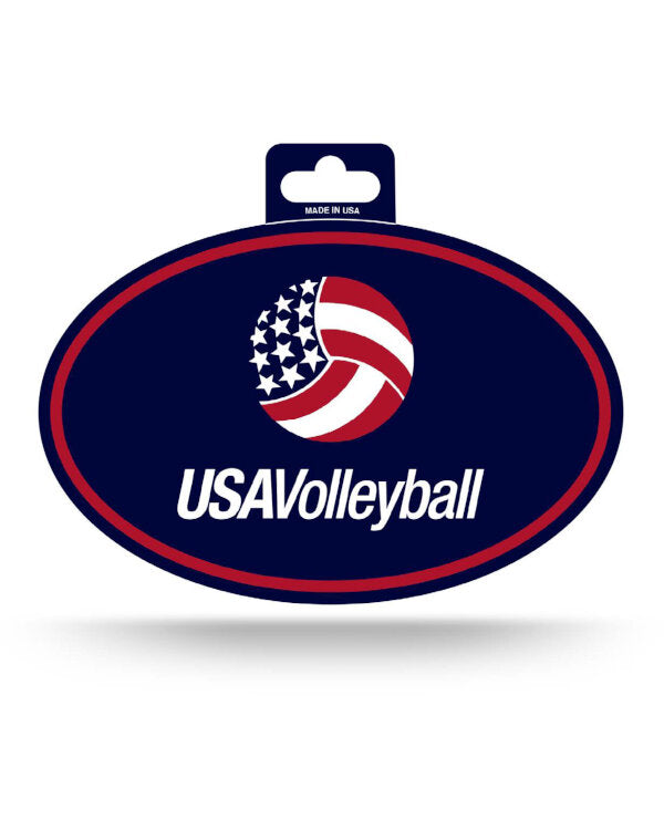 USA Volleyball Oval Decal