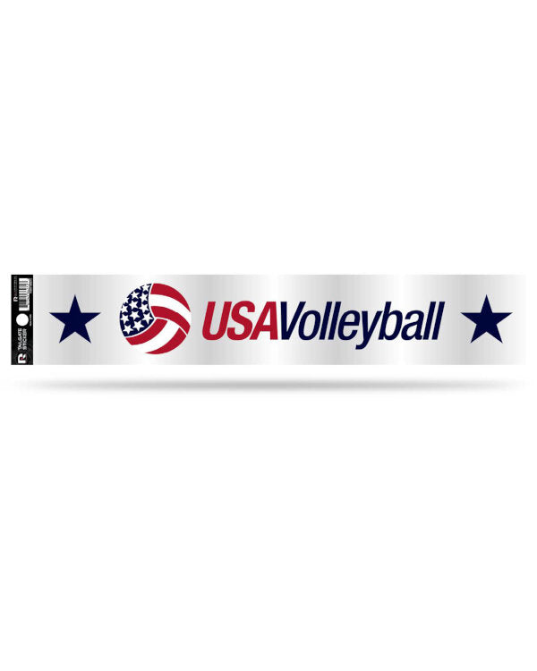"USA Volleyball Static Cling Decal (3.5"" X 4.5"")"