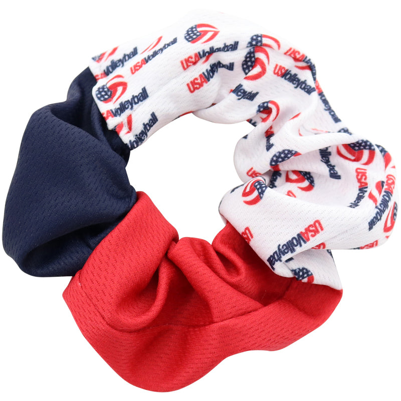 USA Volleyball Color Block Scrunchie