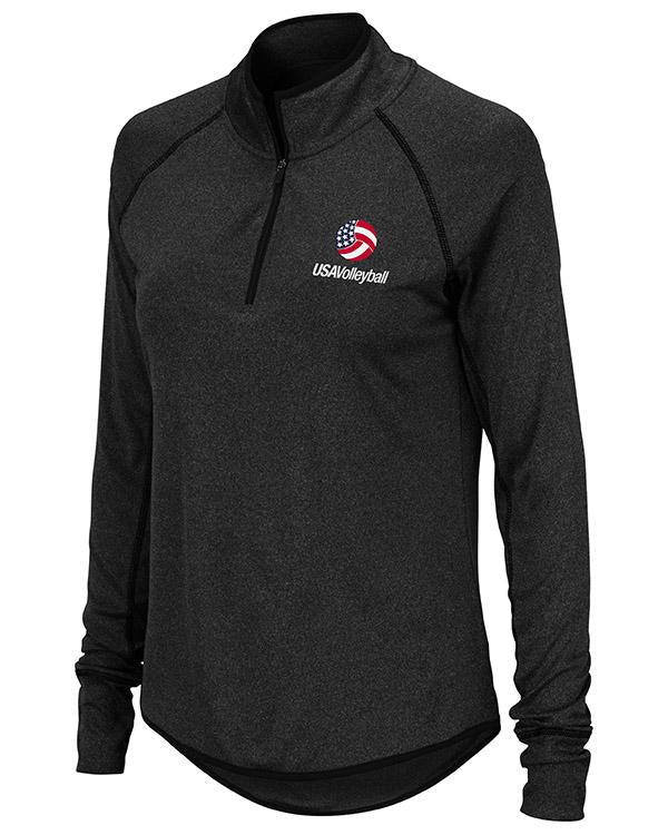 USA Volleyball Bailey Long Sleeve Quarter Zip