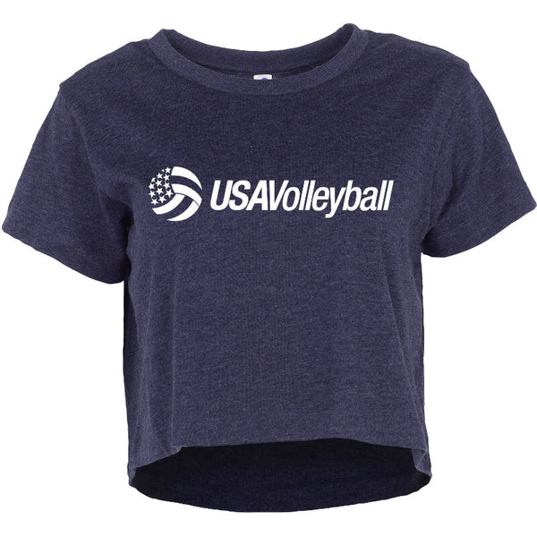 USA Volleyball Essential Short Sleeve Crop Top