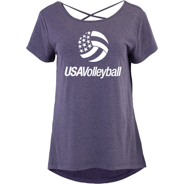 USA Volleyball Criss Cross Short Sleeve T-Shirt