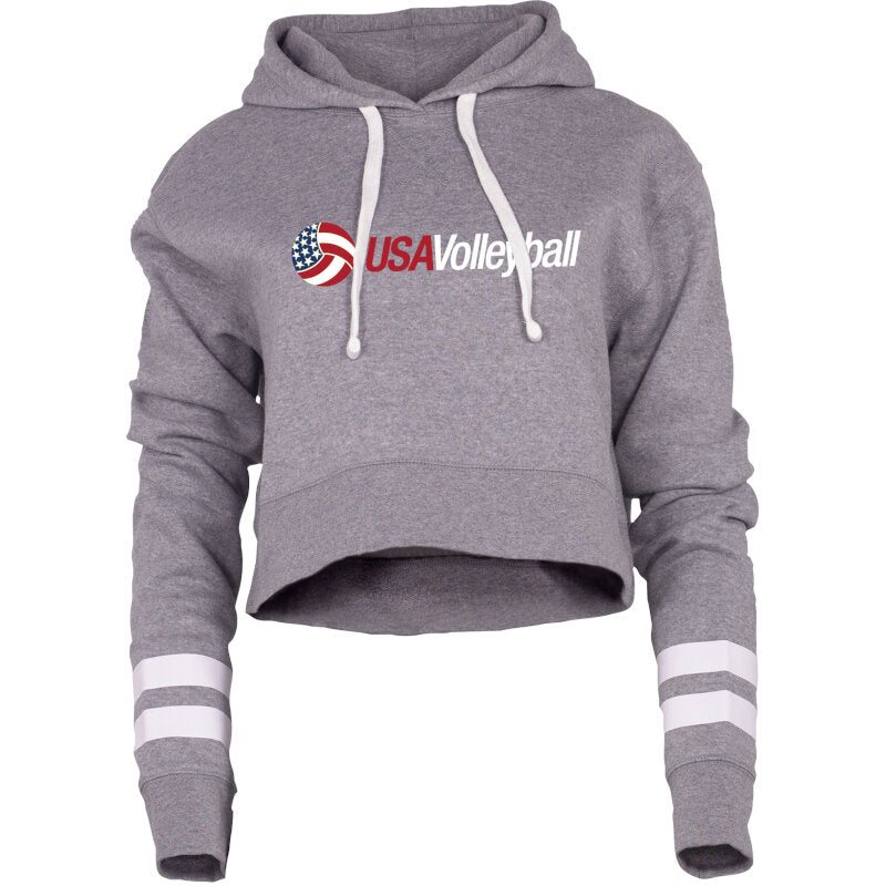 USA Volleyball Benchmark Cropped Spirit Hoodie
