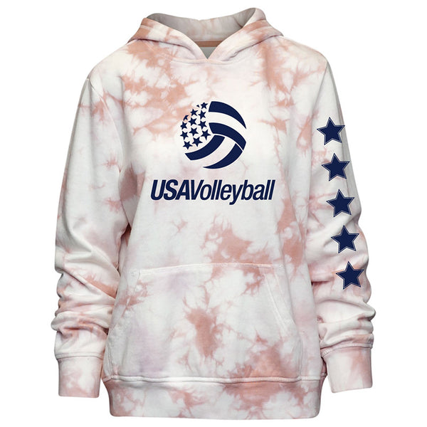 USA Volleyball Tie Dyed Hoodie