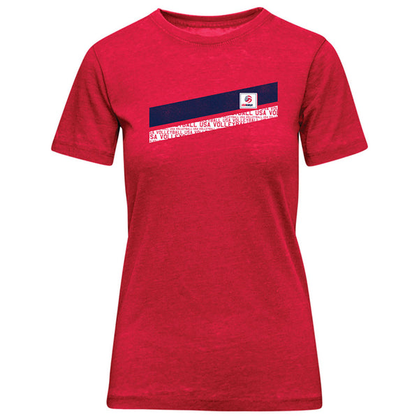 USA Volleyball Burnout Short Sleeve T-Shirt