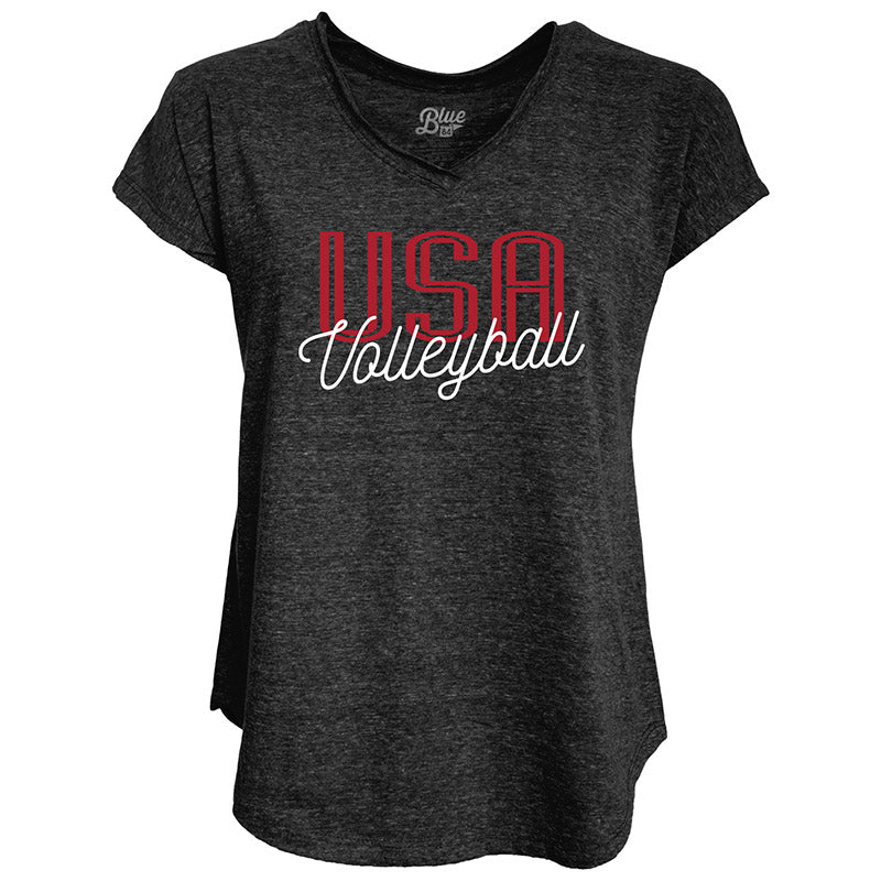 USA Volleyball Tri-Blend V-Neck T-Shirt