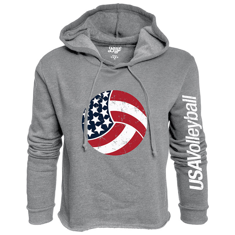 USA Volleyball Cassie Crop Fleece Hoodie