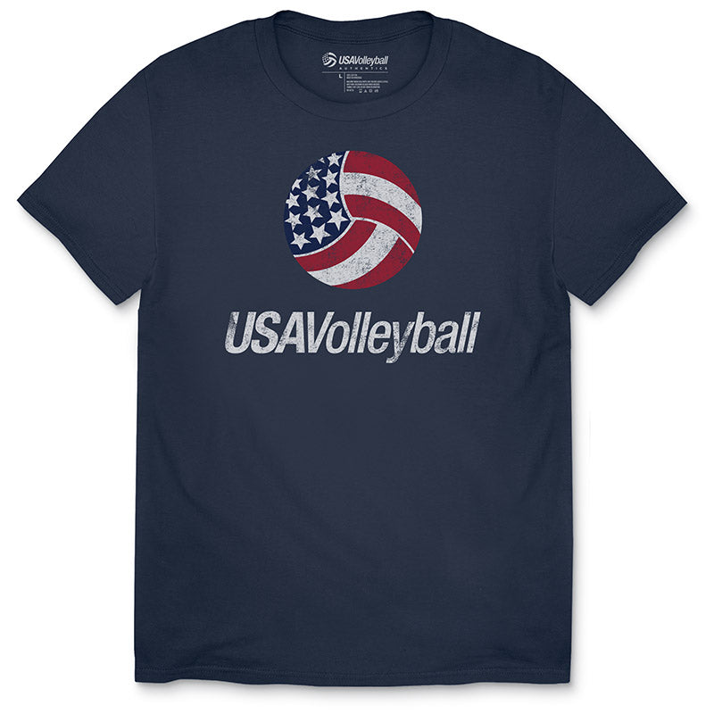 USA Volleyball Distressed Primary Logo Youth T-Shirt