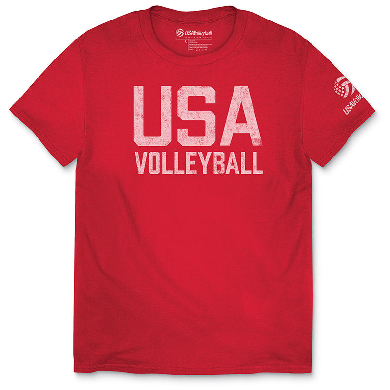 USA Volleyball Distressed Straight Up Youth T-Shirt