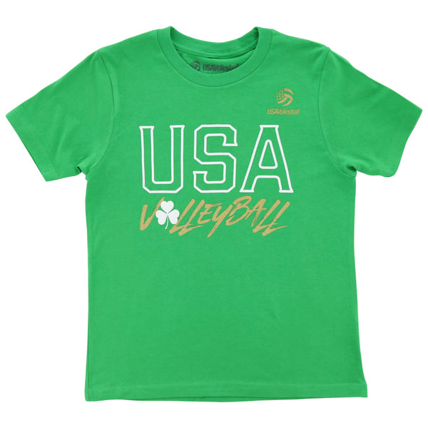 USA Volleyball Shamrock USA Youth Short Sleeve T-Shirt
