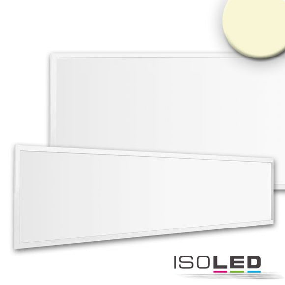 LED PANEL BUSINESS LINE 1200 UGR<19 2H, 36W, RAHMEN WEISS RAL 9010, WARMWEISS, PUSH ODER DALI DIMMBAR