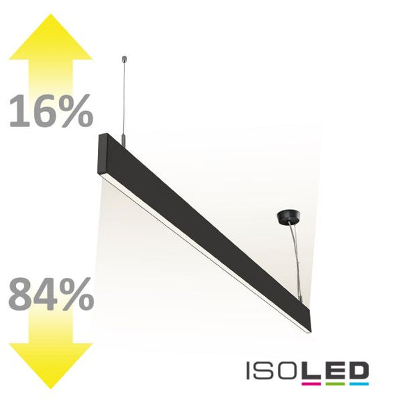 LED HÄNGELEUCHTE LINEAR UP+DOWN 600, 25W, LINEAR- U. 90° VERBINDBAR, SCHWARZ, WARMWEISS