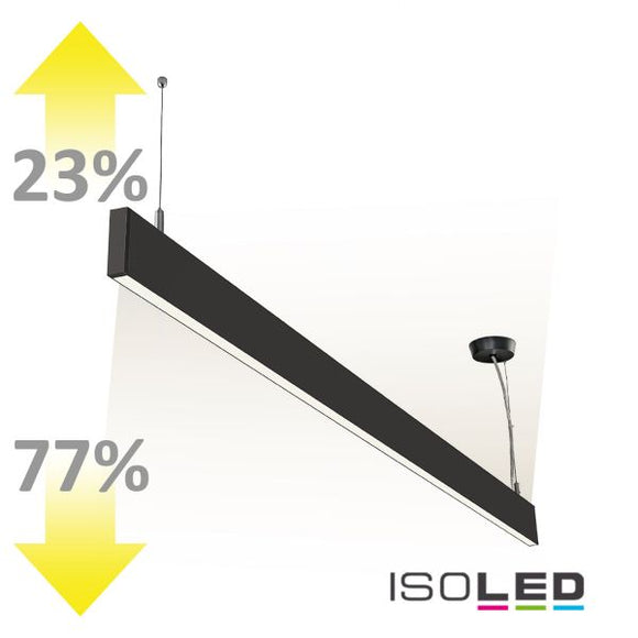 LED HÄNGELEUCHTE LINEAR UP+DOWN 1200, 40W, LINEAR- U. 90° VERBINDBAR, SCHWARZ, WARMWEISS