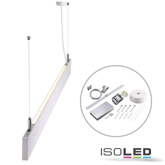 LED HÄNGELEUCHTE LINEAR UP+DOWN 1200, 40W, LINEAR- U. 90° VERBINDBAR, WEISS, WARMWEISS