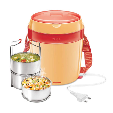 Milton Futron Stainless Steel Tiffin Box 3 Container  ,360 ml , Electric Lunch Box - My Dream Kitchens