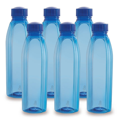 Cello Fridge Pet Water Bottle Pack Of 6 , 1000 ml , Color May Vary - My Dream Kitchens