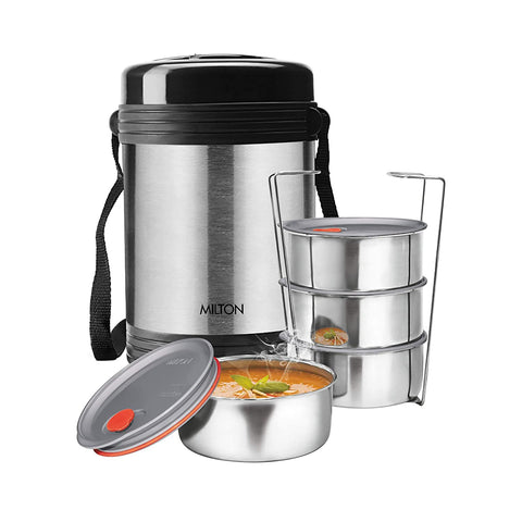 Milton Legend Deluxe 4 Thermosteel Tiffin / Lunch Box, (4 Containers) - My Dream Kitchens
