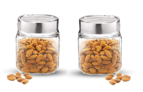 Treo By Milton Cube Storage Glass Jar, Set of 2 , 1800 ml - My Dream Kitchens