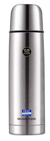Kent Stainless Steel Thermosteel Vacuum Flask / Bottle , 1 Litre ,Hot And Cold 24 Hours - My Dream Kitchens