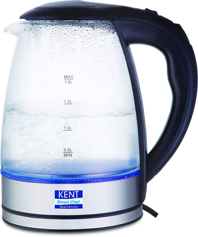 KENT Elegant Electric Glass Kettle 1.8 Ltr , 2000 Watt (1 Year Warantty ) - My Dream Kitchens