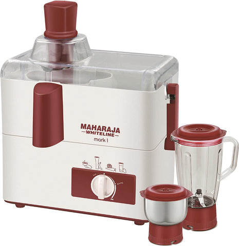 Maharaja Whiteline Mark 1 Happiness 450-Watt Juicer Mixer Grinder - My Dream Kitchens