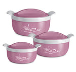 Milton Crave Jr Inner Steel Insulated Casserole Gift Set of 3 - My Dream Kitchens