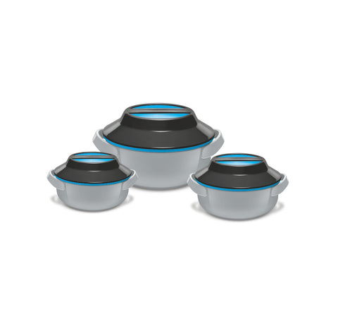 Milton Microwow Insulated Casserole Gift, Set of 3 Microwave Compatible - My Dream Kitchens