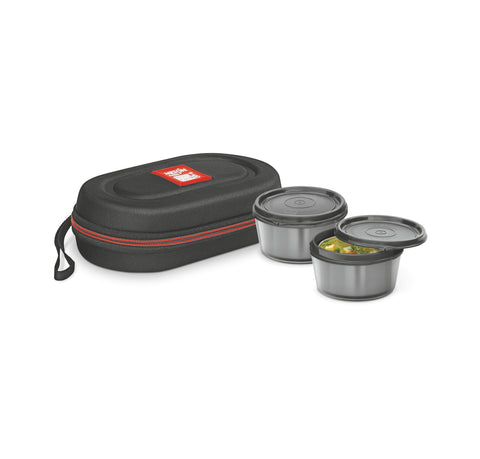 Milton Nutri Stainless Steel Insulated Lunch Box Microwave Compatible , 350ml, Set of 2 - My Dream Kitchens
