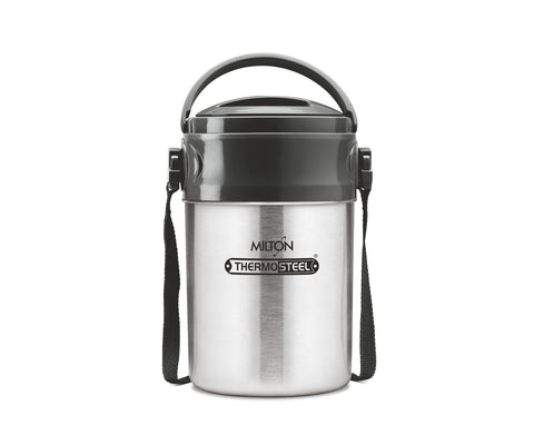 Milton Steel On Deluxe 4 Thermosteel Tiffin / Lunch Box, 4 Containers, 320 ml - My Dream Kitchens