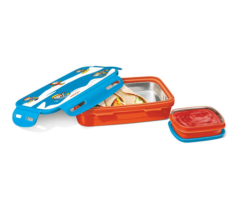 Milton Steely Mini Deluxe  Tiffin 2 Containers Insulated Inner Steel Container Lunch Box - My Dream Kitchens