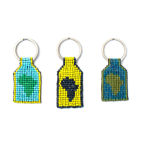 Kidz Positive Beading Project African Beaded Keyring