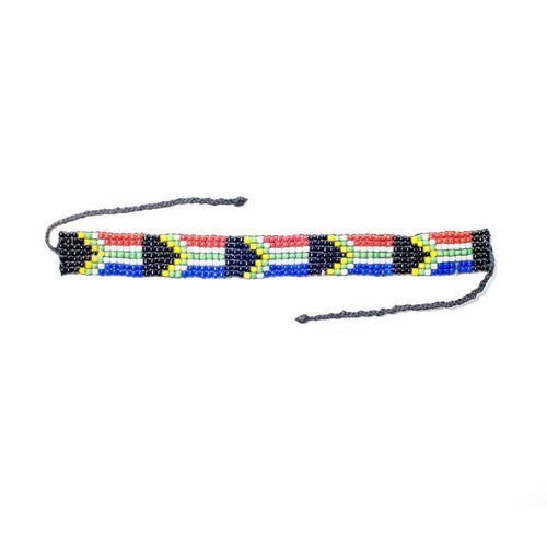 Kidz Positive Beading Project Beaded Friendship Bracelet South African Flag SA Flag Colours