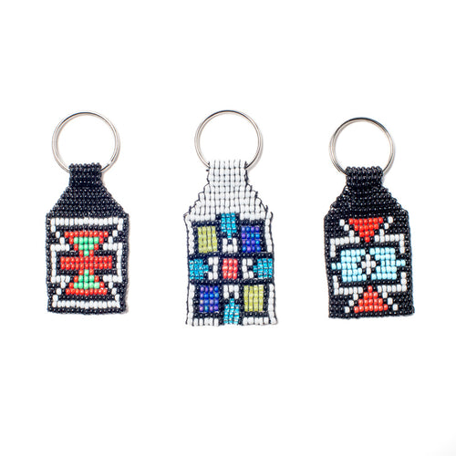 Kidz Positive Beading Project Beaded Keyrings: Ndebele design