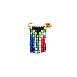 Kidz Positive Beading Project Beaded South Africa Flag Pin SA Flag Colours