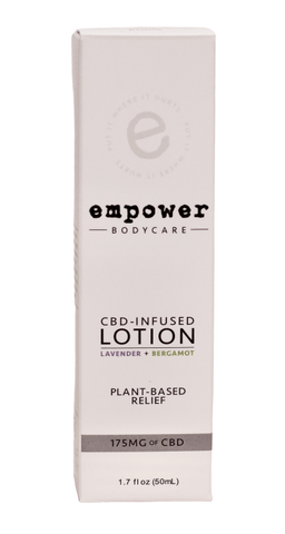 Empower CBD Infused Lotion - Lavender and Bergamot