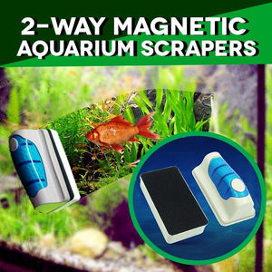 2-Way Magnetic Aquarium Scrapers AmberAconite