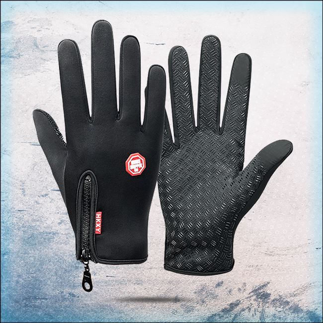 All Weather Thermal Touchscreen Gloves trillionwish Black M