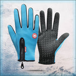 All Weather Thermal Touchscreen Gloves trillionwish Blue S