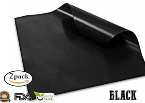 Anti-Stick Barbecue Mat (2pcs) Kitchen 88mallonline L Black