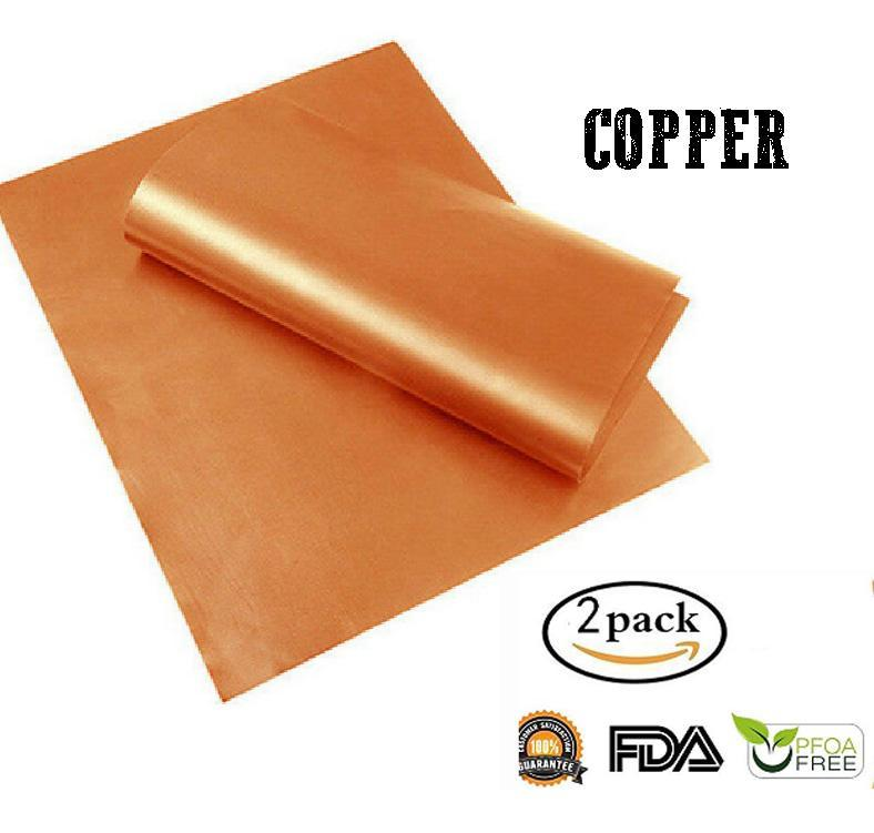 Anti-Stick Barbecue Mat (2pcs) Kitchen 88mallonline S Copper