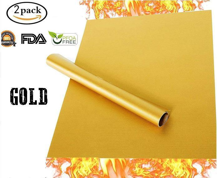 Anti-Stick Barbecue Mat (2pcs) Kitchen 88mallonline S Gold