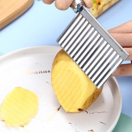 Crinkle Slicer Wavy Knife Kitchen trillionwish