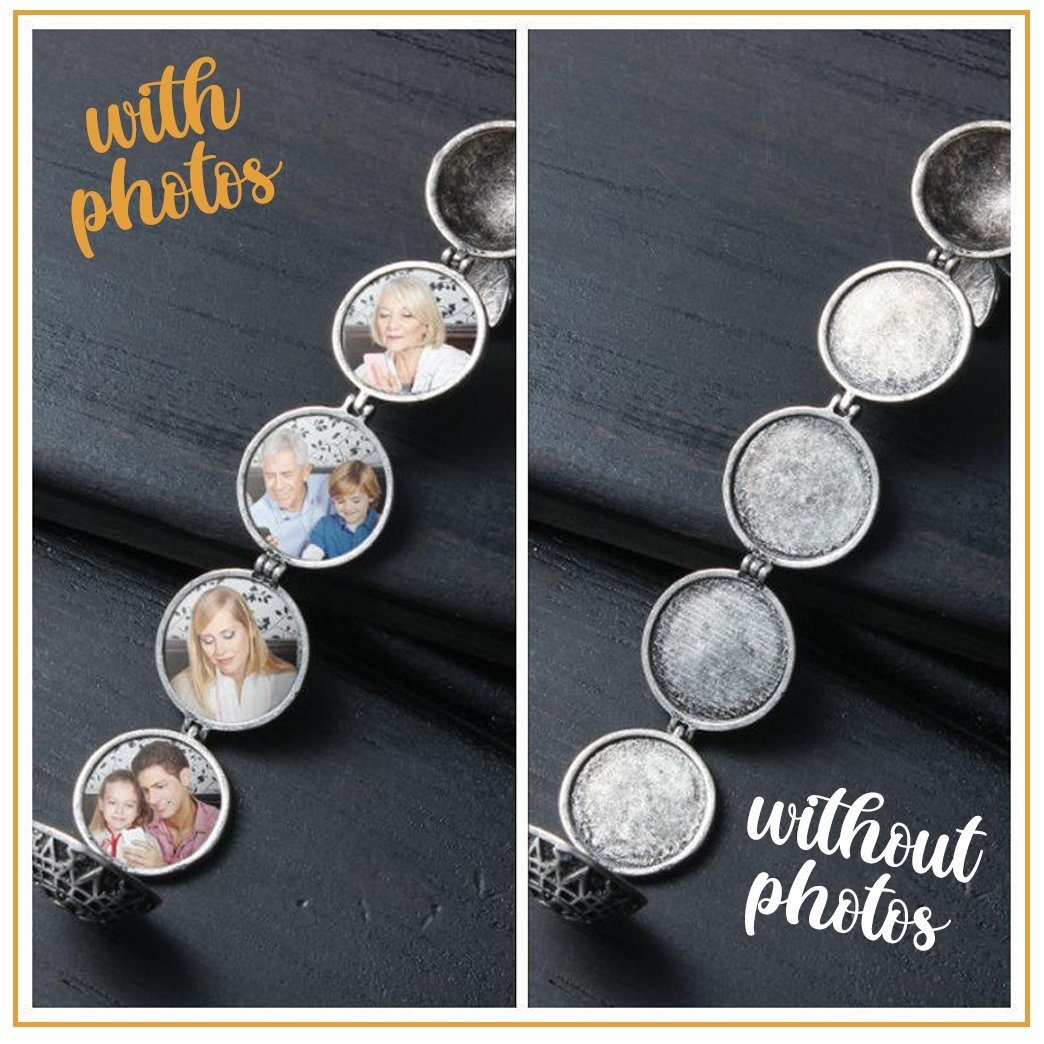 Expandable 4 Photo Locket Necklace trillionwish