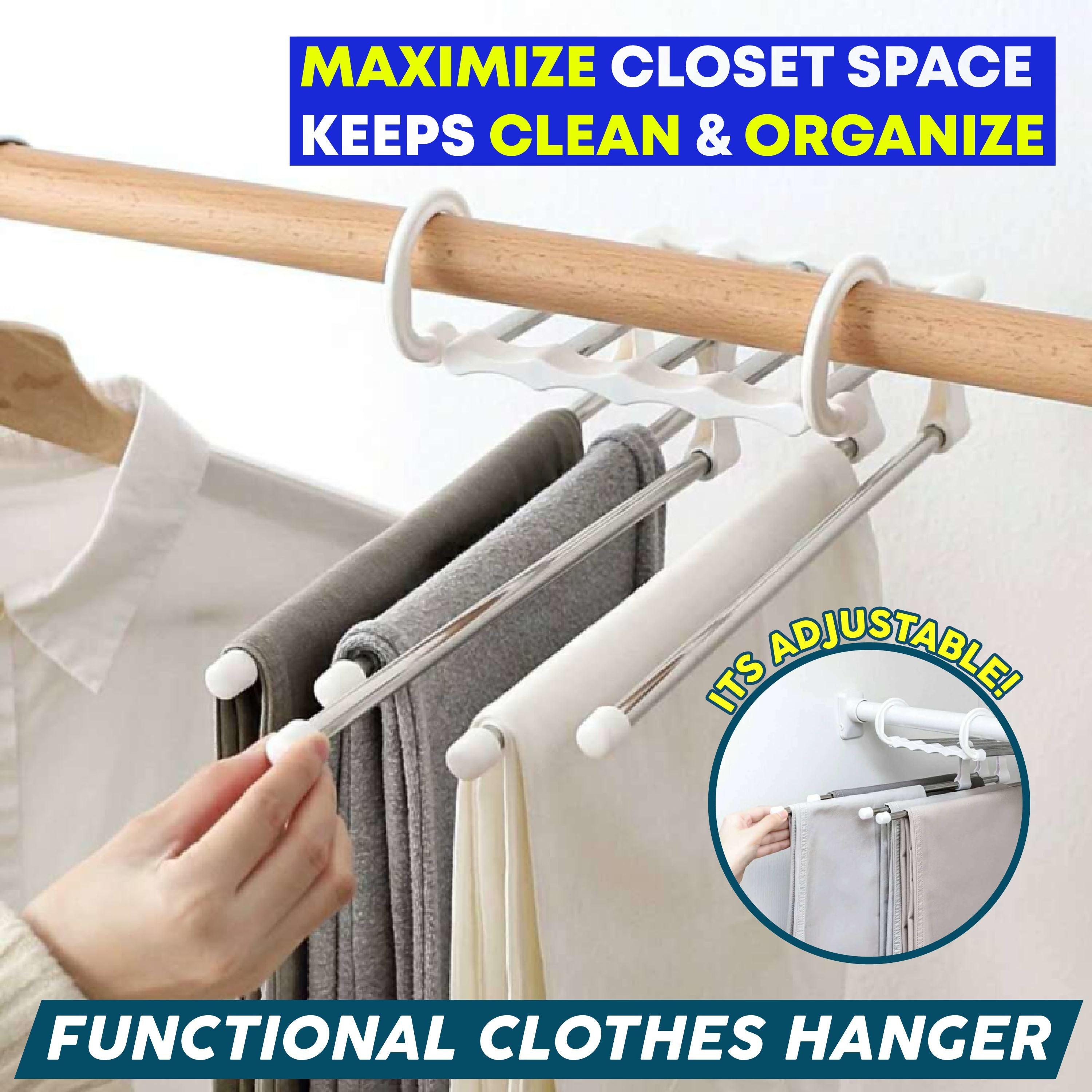 Functional Clothes Hanger 88mallonline White