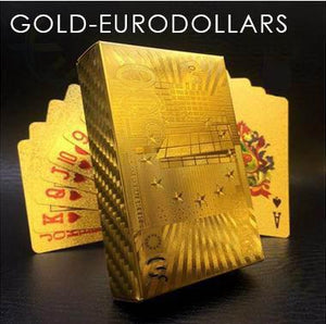 Gold Foil Poker Playing Cards 88mallonline EURO DOLLARS - GOLD