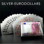 Gold Foil Poker Playing Cards 88mallonline EURO DOLLARS - SILVER