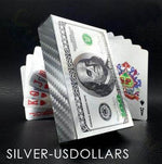 Gold Foil Poker Playing Cards 88mallonline US DOLLARS -SILVER